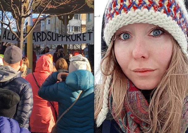 Sofia Larsson, engagerad i Äldrevårdsupproret.