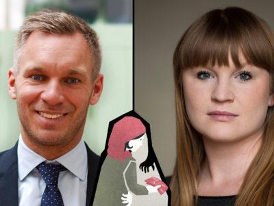 Erik Slottner (KD) och Clara Lindblom (V).