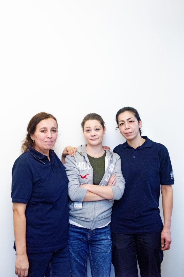 Claudia Vergara, Josefin Odeborg och Hana Hourani.