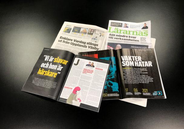 Fria fackförbundstidningar.