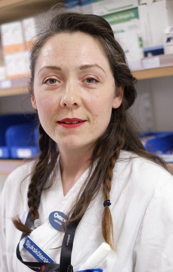 Lydia Eifert, sjuksköterska, tjänar 44000 kronor i månaden.