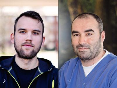 Christopher Bäcktorp och Mahmoud Alkwas, två av många som jobbar under osäkra villkor.