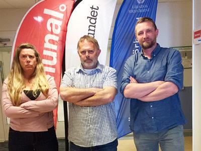 Ulrika Winblad, Kommunal, Peter Hvass, Lärarförbundet och Fredrik Dahlberg, Lärarnas riksförbund i Kungälv.
