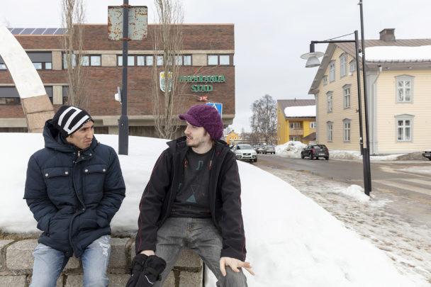 Bahadur Hosseini och Marcus Karlsson.