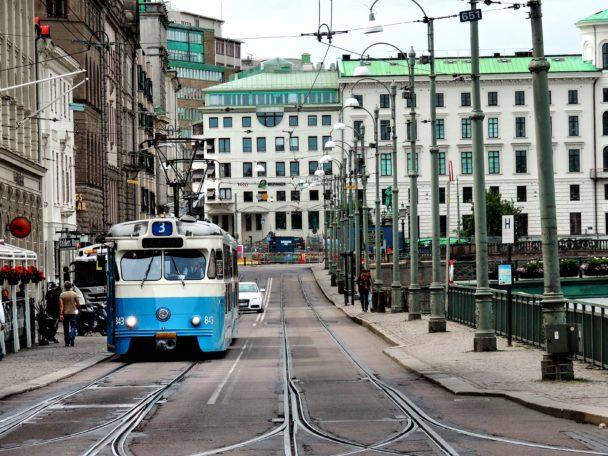 Spårvagn i Göteborg.