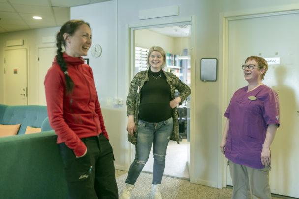 Ronja Asplund, Lottie Andersson och Malin Lindmark.