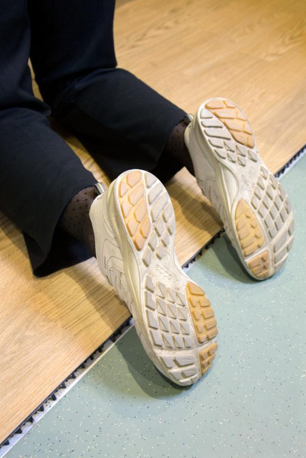 Falldämpande golv är ett av forskningsprojekten på KTH.