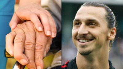 Undersköterska och Zlatan Ibrahimovic.