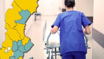 Var får undersköterskor pengar för att flytta sin semester? Se kartan nedan.