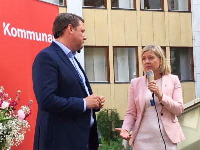 Tobias Baudin och Magdalena Andersson.