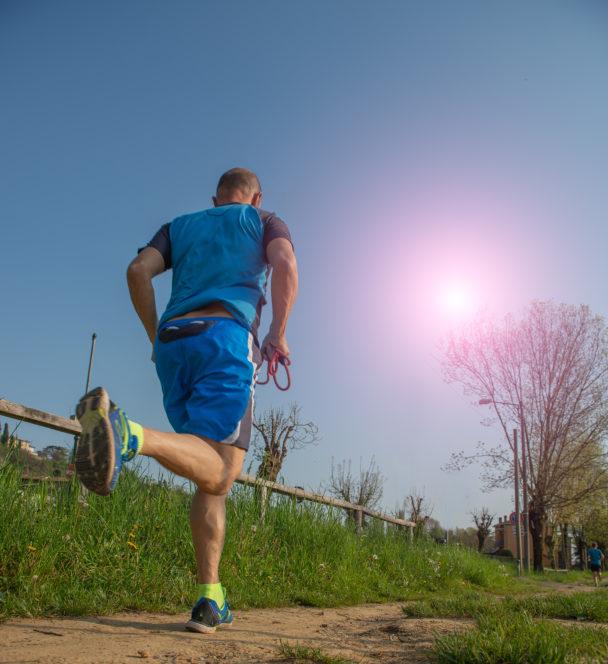 Löpning i hetta.