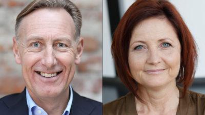 Jan-Olof Jacke, Svenskt Näringsliv, och Marie Nilsson, IF Metall.