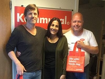Tony Eklund, Kewstan Karami och Anders Ejdemark.