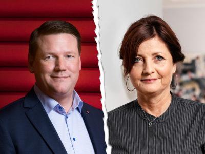 Tobias Baudin, Kommunal, och Marie Nilsson, IF Metall.