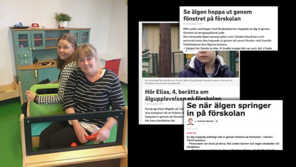 Eleonor Persson och Eva Svedin (vid ratten).