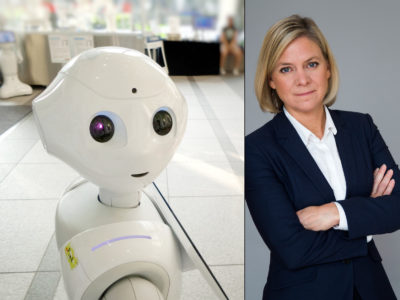 Magdalena Andersson (S) tror på välfärdstekniken.