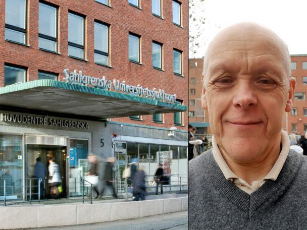 Hans Ekström, sektionsordförande för Kommunal på Sahlgrenska.