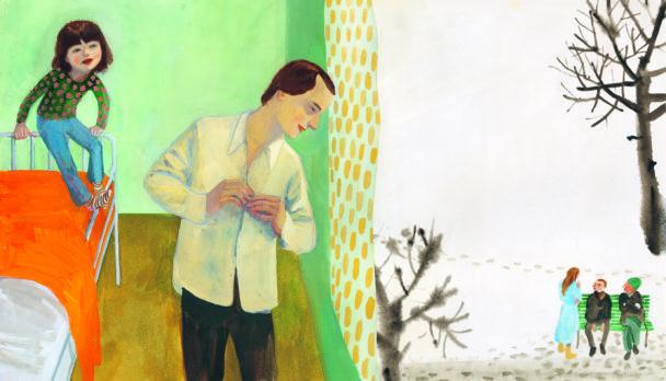 """Illustration ur """"Dyksommar"""" av Sara Stridsberg och Sara Lundberg."""