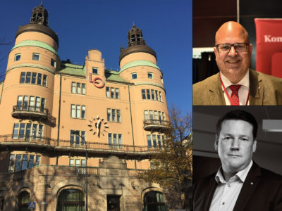 Karl-Petter Thorwaldsson, LO, och Tobias Baudin, Kommunal.