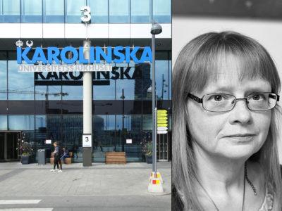 Carina Lenngren, förhandlingsansvarig för Kommunal på Karolinska universitetssjukhuset.