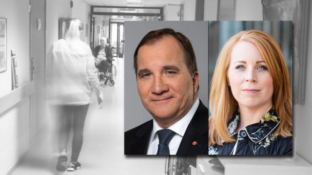 Stefan Löfven (S) och Annie Lööf (C).