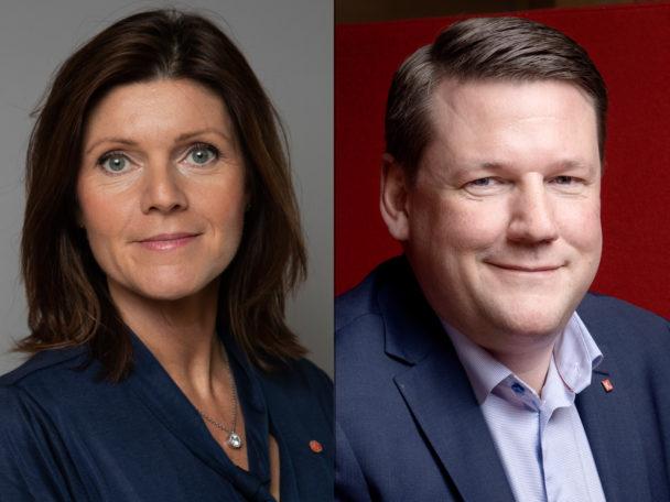 Eva Nordmark (S) och Tobias Baudin.
