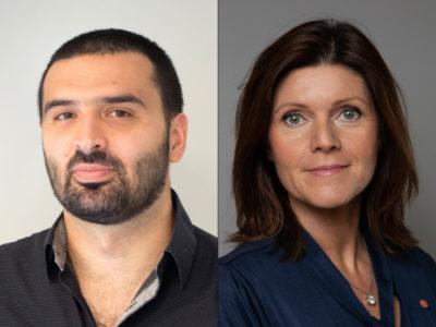 Ali Esbati (V) och Eva Nordmark (S).