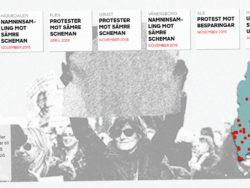 Karta över protester.