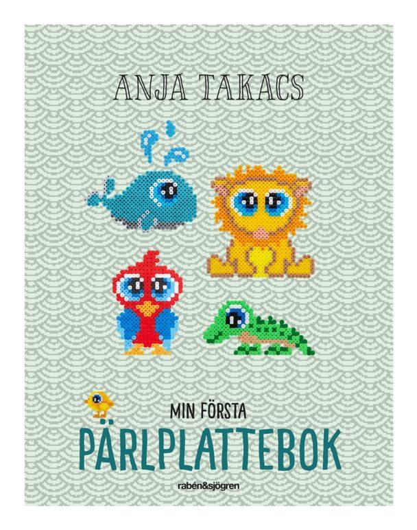 """""""Min första pärlplattebok"""" av Anja Takacs."""