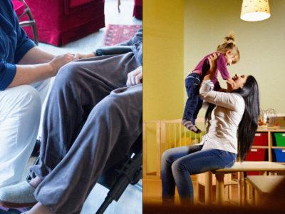 Undersköterskor och barnskötare (genrebild).