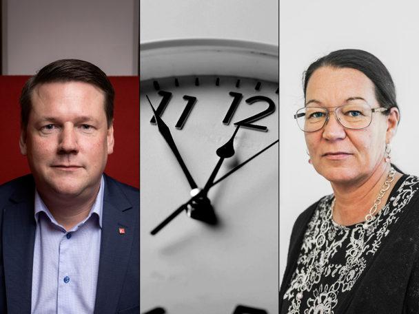 Tobias Baudin och Lenita Granlund.