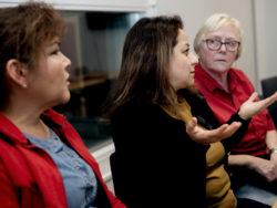 Liliana Jakobsson, Parissa Kharazi Abhari och Margareta Martinsson.