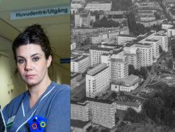 Kajsa Grav, undersköterska på Södersjukhuset.