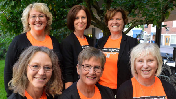 Monica Lindström, Anki Jansson, Annica Järking, Katrin Nörthen, Annette Nord och Diana Hall från Förskoleupprorets ledningsgrupp.