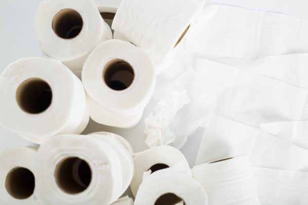 Toalettpapper.