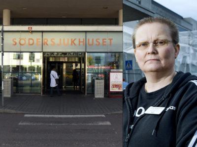 Jenny Söderlund, undersköterska på Söersjukhuset.