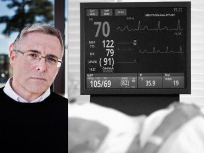 Kevin Thompson, förhandlingsansvarig för Kommunal på Capio. (OBS! Bilden från sjukhuset är en genrebild.)