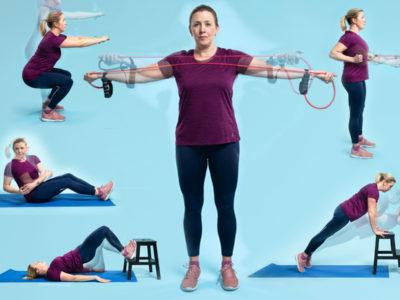 Jessica Norrbom visar sex styrkeövningar.