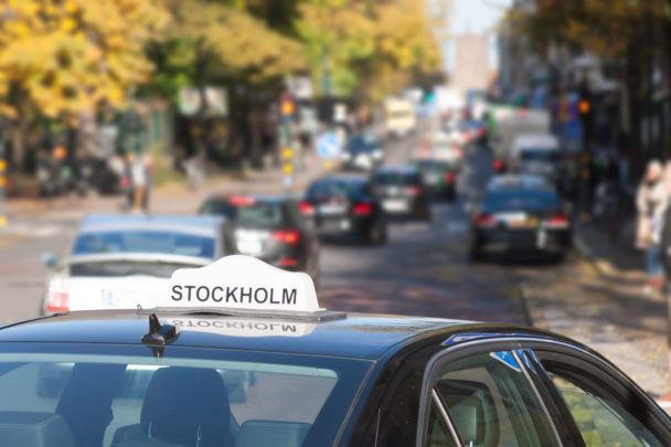 Taxi i Stockholm.