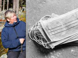 Ethel Henriksson, huvudskyddsombud i Umeå där hemtjänstpersonal jobbar utan skydd hos brukare med symtom.