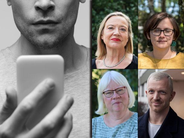 Karin Rågsjö, Sara Svensson, Eva Olofsson och Jonas Lindberg (V).
