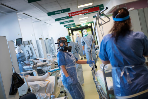 Iva på Danderyds sjukhus.