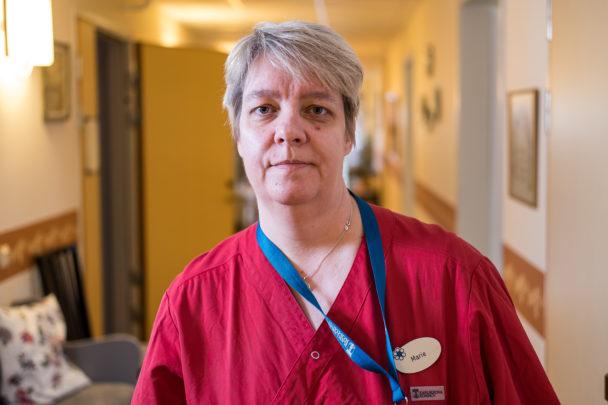 Marie Holgersson, vårdbiträde.