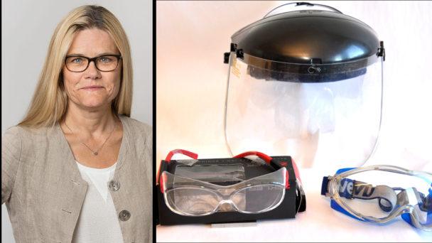 Pia Zätterström, Arbetsmiljöverket och skyddsutrustning.