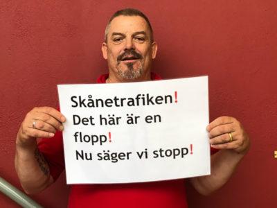 Mikael Olsson, huvudskyddsombud vid Nobina.