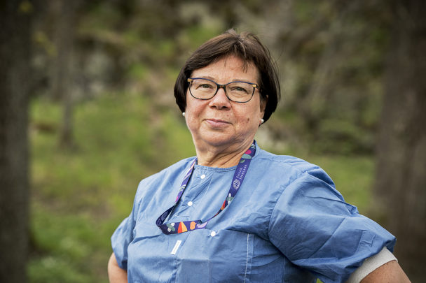 Stina Asp Larsson, undersköterska vid Mälarsjukhuset.