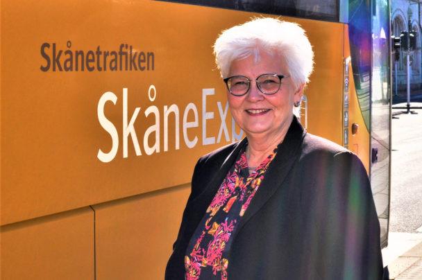 Carina Zachau (M), ordförande i kollektivtrafiknämnden Region Skåne.