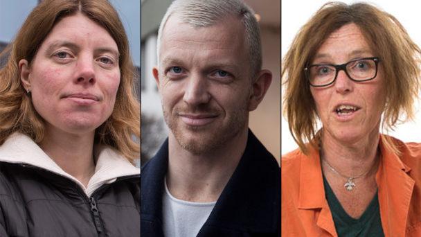 Anna Sehlin, Jonas Lindberg och Catarina Wahlgren (V).