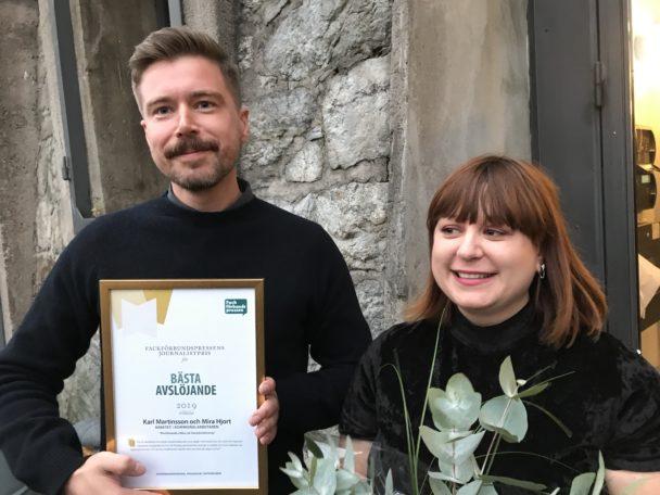 Karl Martinsson och Mira Hjort.