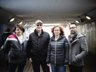 Nataniel Lindén, Tony Werner, Annika Larsson och Benjamin Hultengren.